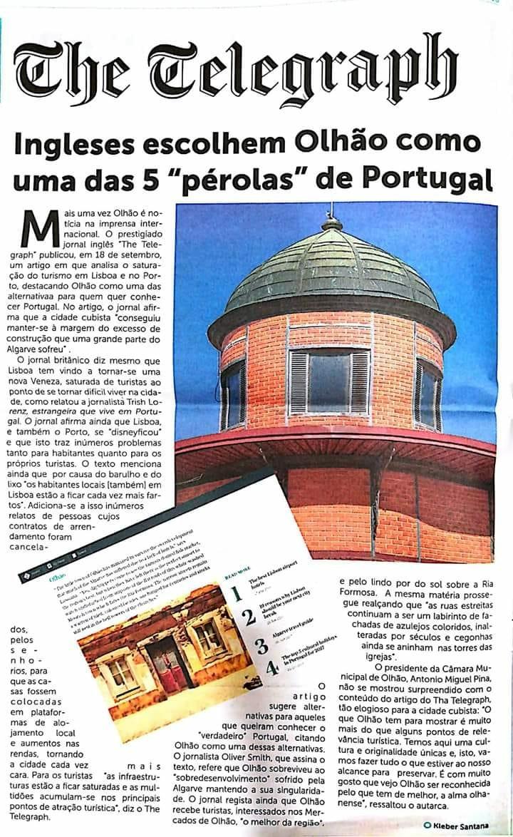 """Ingleses escolhem Olhão como uma das 5 """"pérolas"""" de Portugal"""